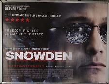 Cinema Poster: SNOWDEN 2016 (Main Quad) Joseph Gordon-Levitt Shailene Woodley