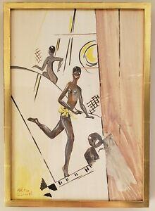 Josephine Baker - Paul Colin Original Study for La Tumulte Noir 1927