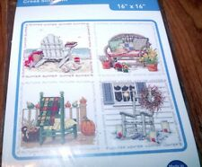 "Janlynn FOUR SEASON CHAIRS Counted Cross Stitch Kit 16"" x 16"""