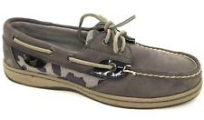 SPERRY Top Sider Angelfish Women's Size 6.5 M Gray Cheetah ~Leather Boat Shoes~