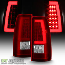 1999-2006 GMC Sierra 1500 99-02 Chevy Siverado Red LED Tube Tail Lights Lamps