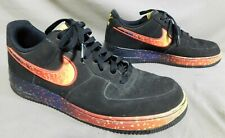 MENS NIKE AIR FORCE 1 LOW ASTEROID BLACK/FIRE 488298 SHOE SIZE 12