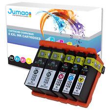 Lot de 5 cartouches d'impression type Jumao compatibles pour Lexmark S605