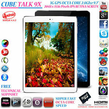 "Cube Talk 9X 3G GPS 2 GHz Octa Core 16GB 9.7 ""Retina 4.4 telefono con Android Tablet PC"
