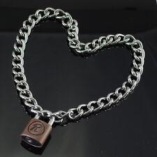Padlock Lock R Pendant Charm Sex Pistol Rabbit 50cm Choker Chain Necklace (NEW)