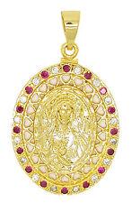 VIRGIN MARY PENDANT GOLD PLATED - DIJE SANTA VIRGEN MARIA ORO LAMINADO BRASILENO