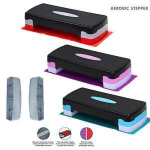 Aerobic Stepper Yoga Step Board Gym Fitness Exercise Cardio Adjustable Blocks