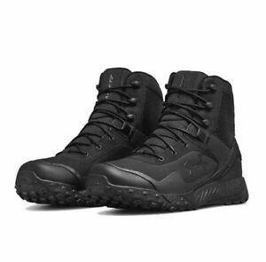 NIB Under Armour 3021034-001 Men's UA VALSETZ RTS 1.5 TACTICAL BLACK BOOTS $120