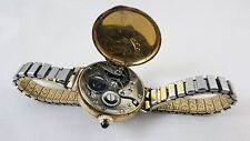 Lovely Vintage Ladies 9 ct gold Cased 15 Jewels, gold faced watch, Hinged Back