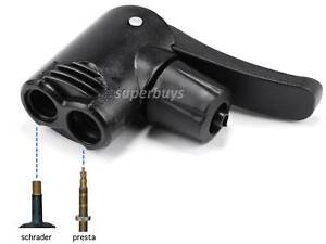 Bicycle Air Pump Nozzle Replacement Dual Head Presta Schrader Valve Tyre Tube