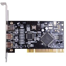 3 Ports 2x 1394B+1x 1394A Firewire 800 PCI 32bit Adapter Card TI Chip with Cable