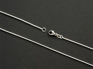 Silberkette Schlangenkette Kette echt Sterling Silber 925 1 mm 38 40 42 45 50 cm