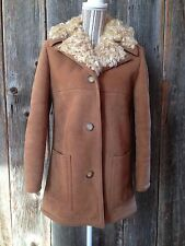 Sawyer Napa Valley Shearling lamb jacket coat - Abercrombie & Fitch - size 12