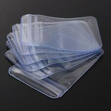 100Pcs Clear PVC Plastic Coin Bag Case Wallets Storage Cover Envelopes 70 x 50mm
