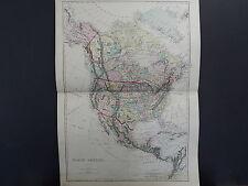Antique Map, 1875, North America