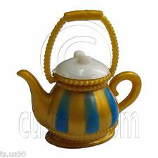 Gold Teapot Tea Pot 1:6 Scale for Barbie Monster High Doll's House Miniature