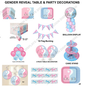 Gender Reveal Girl or Boy ? Baby Shower Tableware - Balloons - Party Decorations