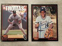 1993 Triple Play #26 & #77 Frank Thomas Chicago White Sox HOF