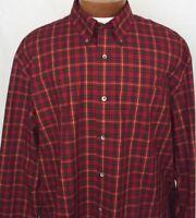 NWT Sport Shirt Saddlebred LS Mens Big and Tall Wrinkle Free Olive Plaid New 3X