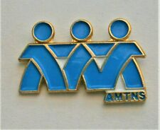 J37:) Enamel amths Frends friendship French lapel tie pin badge
