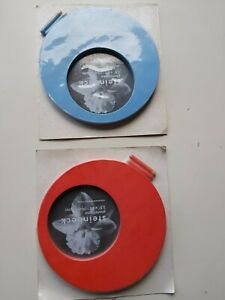Vintage Pair Of Circular Photo Frames by Steinbeck.20 cm x.20 cm.Cool 70s Style