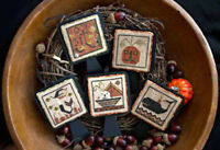 Stranded Jacks Halloween Ornaments Plum Street Samplers Cross Stitch Pattern