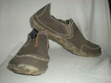 ***CUSHE M SLIPPER,BROWN CANVAS LIGHTWEIGHT SURFER SHOES.MEN`S SIZE 14.NICE!!***