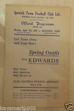 More details for 1946/47 southern league ipswich town v mansfield town - 7th april