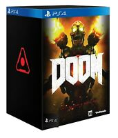 Doom: Collector's Edition Sony PlayStation 4 Video Game Statue Steelbook FPS