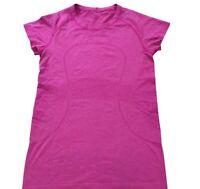 Lululemon Swiftly Tech Short Sleeve Shirt Size 8 Womens Running Top Pink Tee