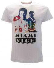 T-Shirt Original Miami Vice Officiel Série Âge 80 Cult USA Crime Jersey