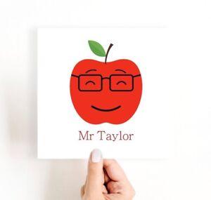 Personalised Teacher Card, Thank you Teacher Card, Male Teacher Gift