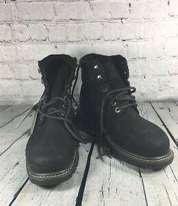 NEW Mens Wolverine floorhand black waterproof steel toe work boot size 7 EW