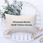 Wholesale Blank Pillow Cover | 12x18 10 oz Soft Cotton Canvas | Lot of 10 Blanks