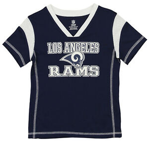 OuterStuff NFL Youth Girls Los Angeles Rams Alternate Color Team Jersey, Navy