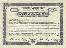 NEW JERSEY 1934 Bankers Trust Company Stock Certificate Atlantic City