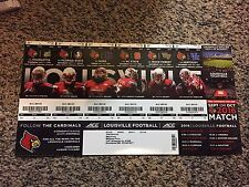 2016 LOUISVILLE CARDINALS FOOTBALL SEASON TICKET STRIP SHEET STUB LAMAR JACKSON