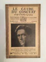 El Guía de La Concierto Y Las Teatro Letra Henri Morin N º 34-35 1930