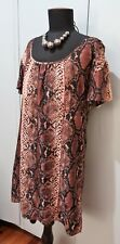 Immaculate Size S Witchery Brown Silk/Viscose Women's Top/Dress- 52cm Bust