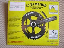 OSYMETRIC, OVAL, 38t, 110 BCD, 4-BOLT CHAIN RING, BLACK, NEW IN PACKET