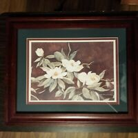 "Jeanie Graham Drucker Framed Matted Signed Print ""Charleston Magnolia"""