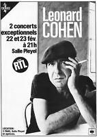 "Reproduction ""Leonard Cohen - Concert Poster"", Home Wall Art"