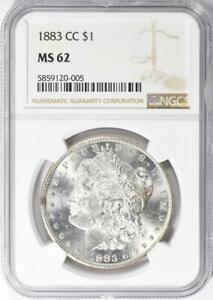 1883-CC Morgan Silver Dollar - NGC MS-62 -  Certified Mint State 62