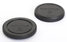 BODY AND REAR LENS CAPS *FOR OLYMPUS AND PANASONIC LUMIX MFT M4/3* BRAND NEW!
