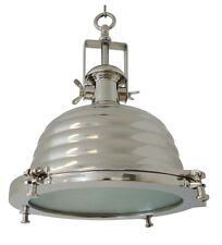 DECKENLAMPE NYBORG CHROM 41cm INDUSTRIE RUND FABRIK SILBER INDUSTRY GRAU LAMPE