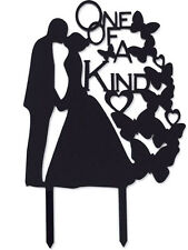 One Of A Kind Bridal Wedding Engagement Anniversary Party Cake Topper Favor Sign