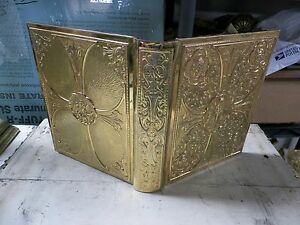 CATHOLIC CHURCH BRASS EMBOSSED Gospel MISSAL COVER 4 Altar, chalice, tabernacle,
