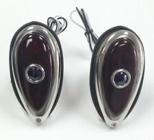 ( PAIR ) 38 39 Ford Tear Drop Tail Lights Red Glass Lens With Blue Dot 12 Volt
