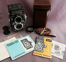 Rolleiflex 3.5f Zeiss Planar 120 format TLR with case, hood & papers