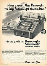1951 Burroughs Accounting Machine - Classic Advertisement Ad J109-B